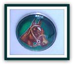 """""""1 Horse"""" Glass Rosette"""